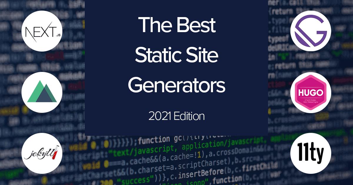 Cover image: Best static site generators