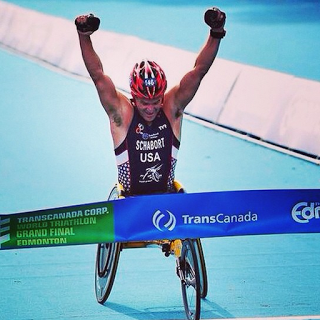 Paralympic triathlete and Endless Pool owner Krige Schabort