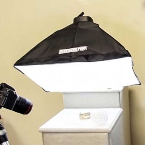 Photographing with a soft box light kit
