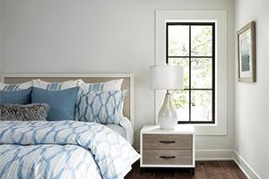 Interior bedroom with Infinity from Marvin replacement fiberglass casement window