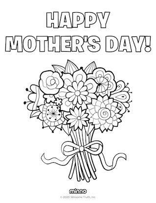 Best Mother S Day Coloring Pages Minno Parents