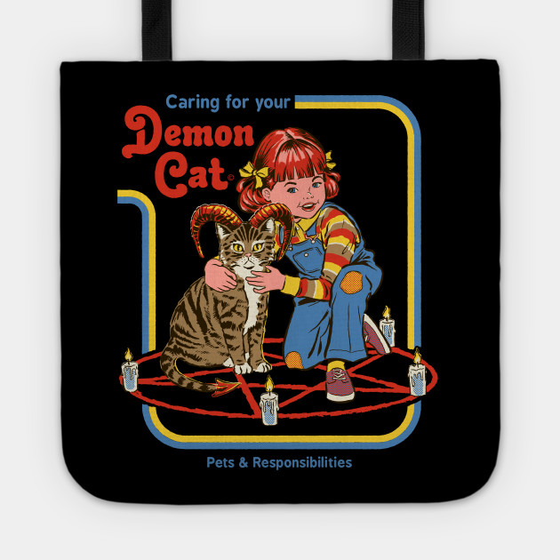 942b1d1a Caring for your Demon cat - Cat - T-Shirt | TeePublic