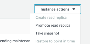 promote read replicate