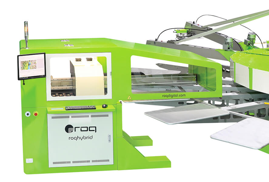 The ROQhybrid screen printing and DTG printing machine