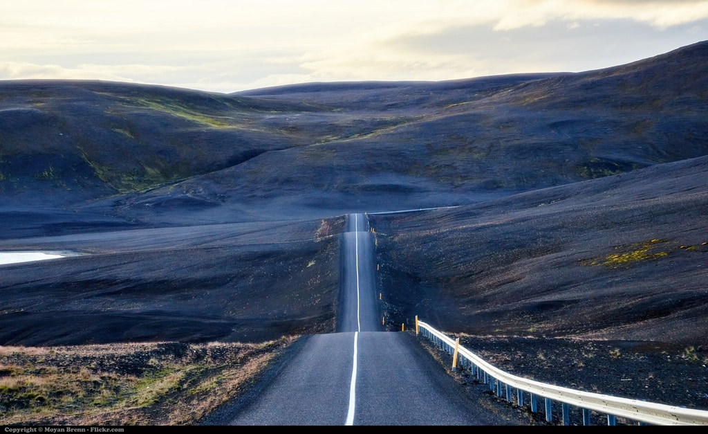 road on a mountain in Iceland