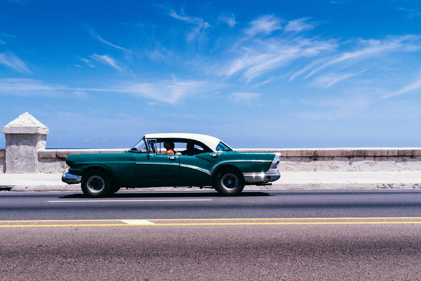 car on solo trip to cuba