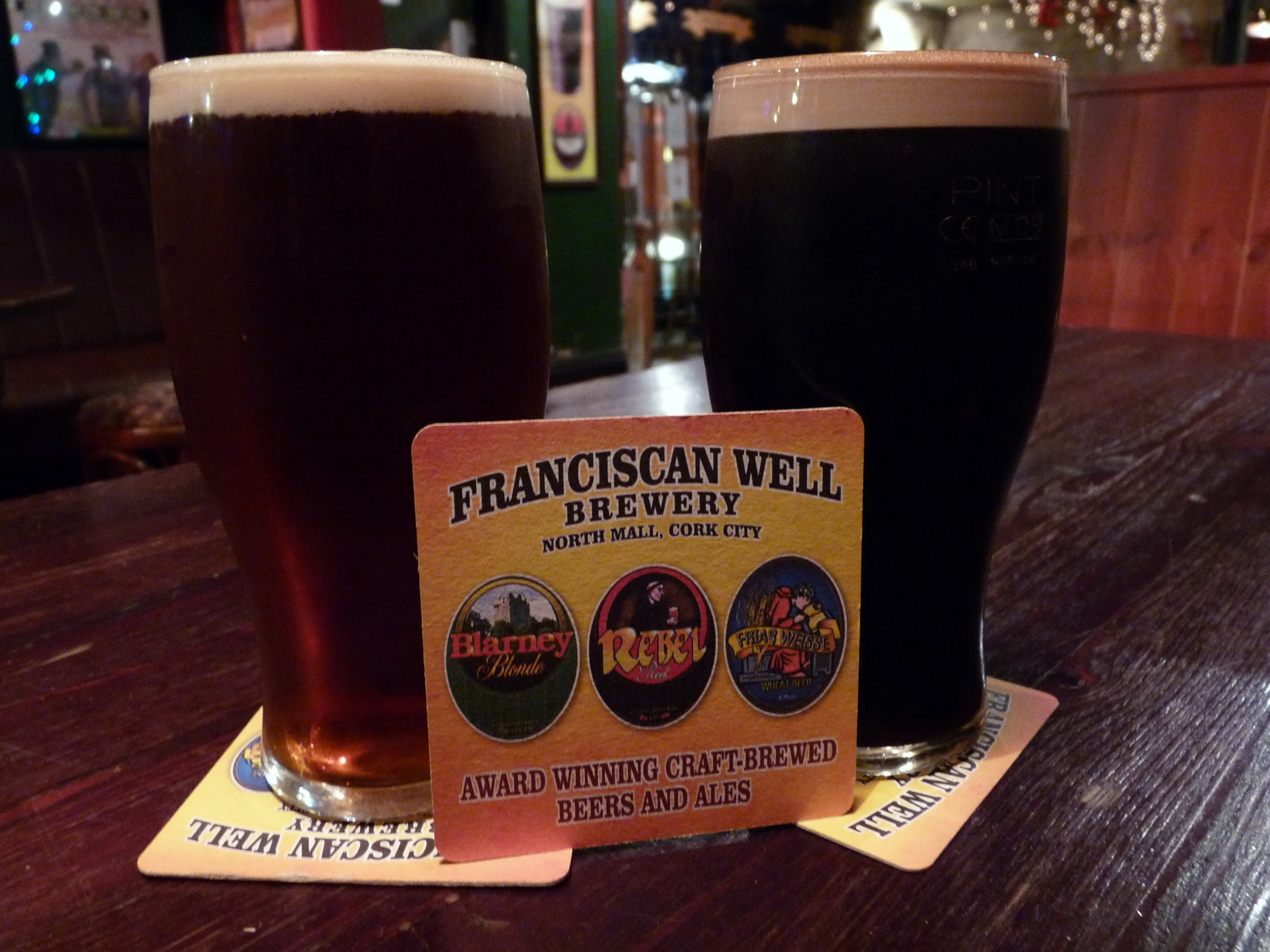Indulging in local beers is a great thing to do in Cork Ireland