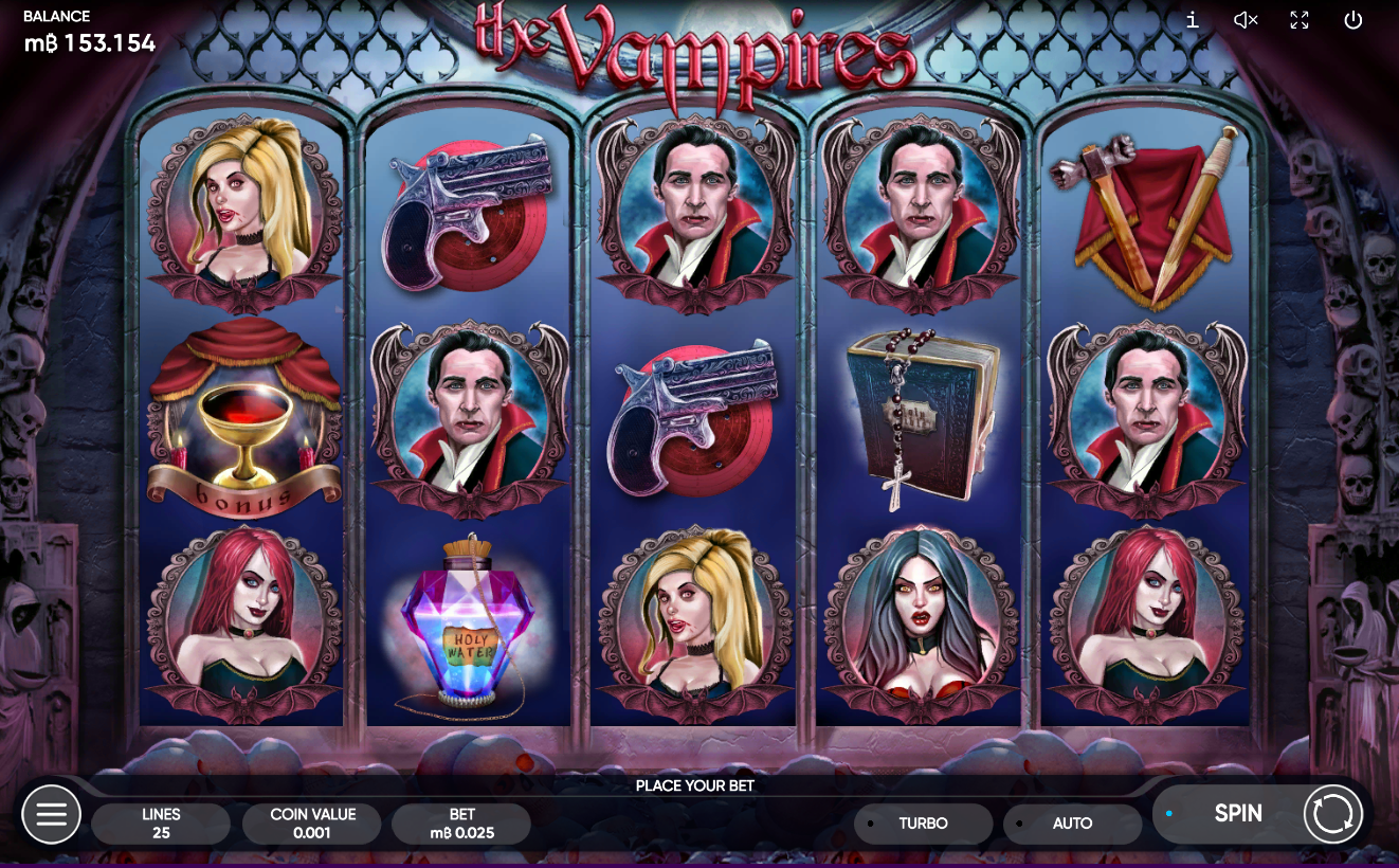 Halloween slots the vampire