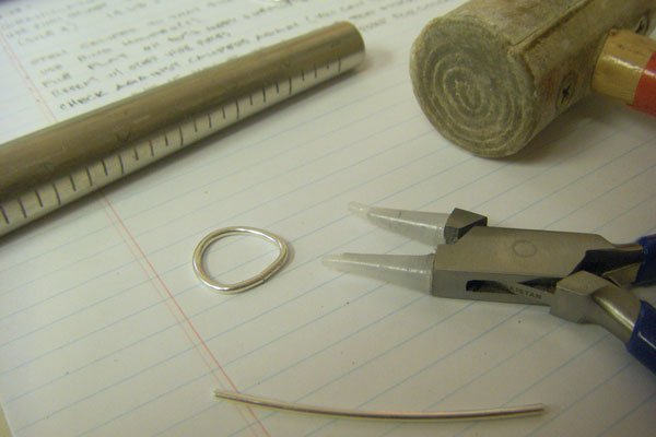 Shaping wire for the ring