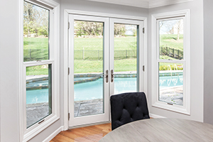 Inswing French fiberglass door from Infinity from Marvin