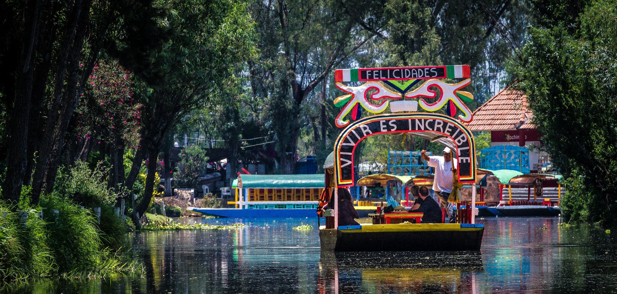 The floating gardens of Xochimilco is one of the Places to Visit in Mexico City