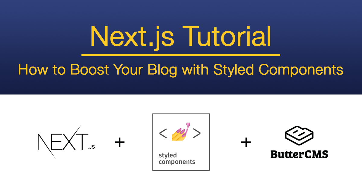 Next.js Tutorial: Styled Components - Cover Image