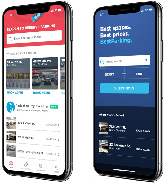 We're proud to support two of the leading apps for mobility - ParkWhiz and Bestparking