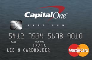 Capital One Secured MasterCard card